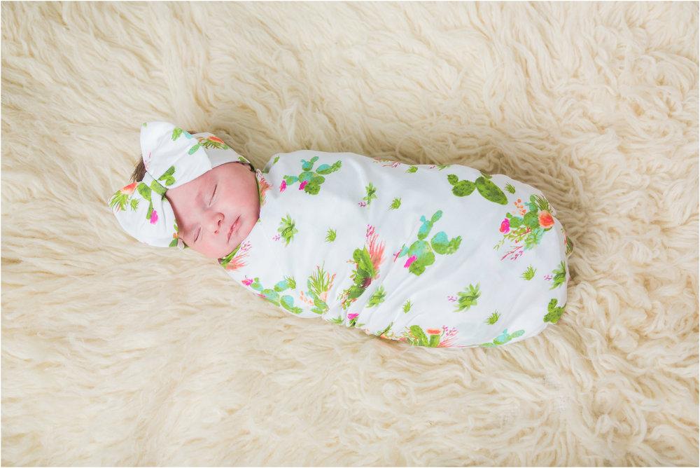 Newborn in Cactus Swaddle