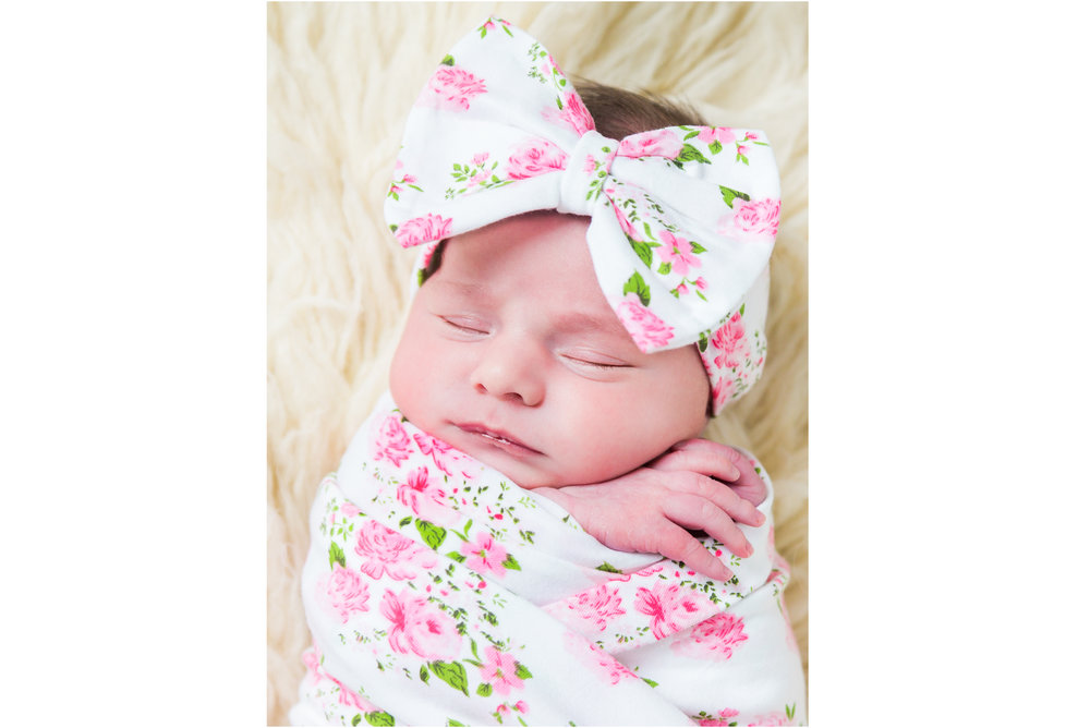 Big Pink Floral Baby Bow