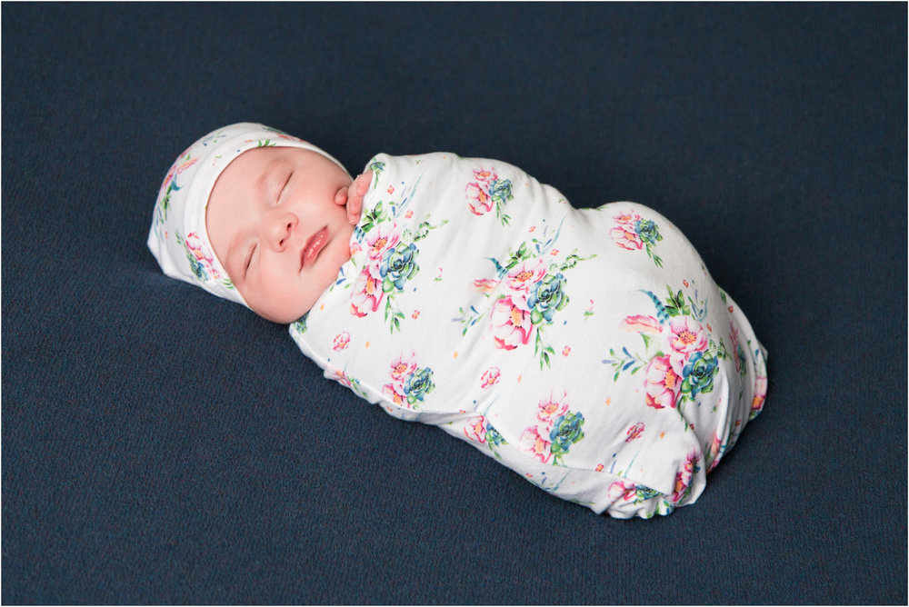 Baby in a Floral Sack