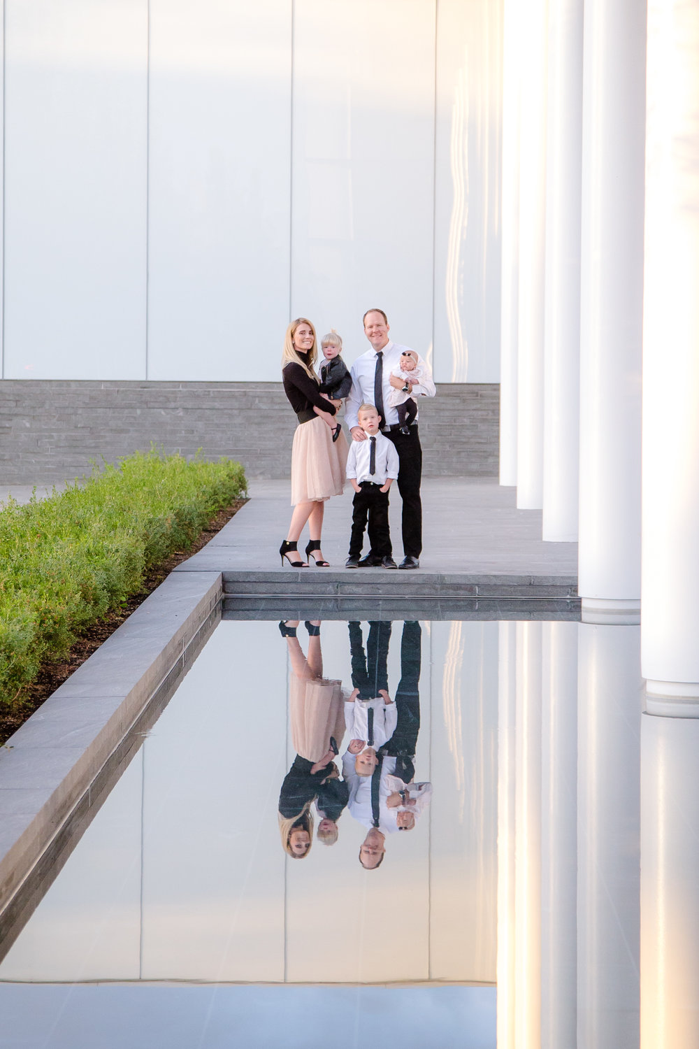 Family Picture with Water Reflection
