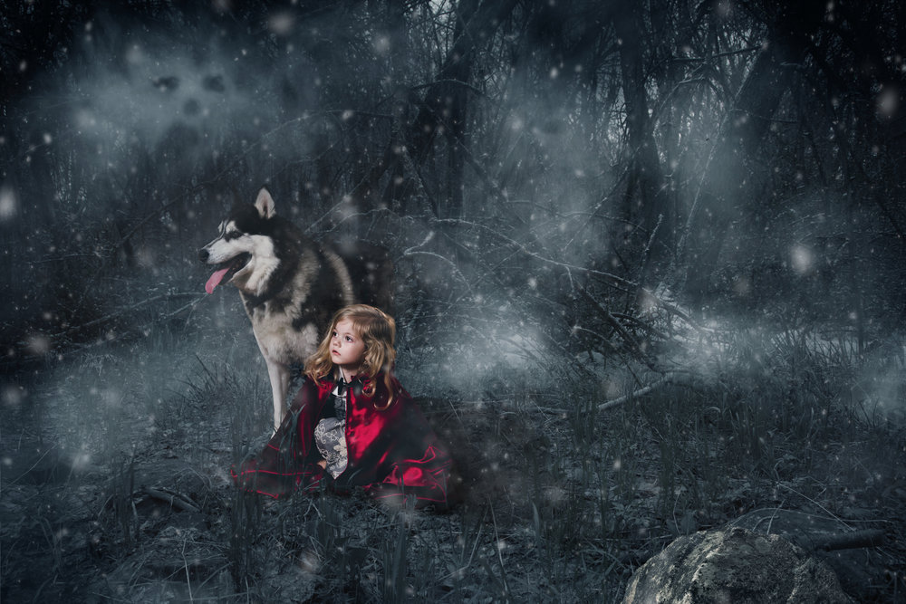 Red Riding Hood Composite Image