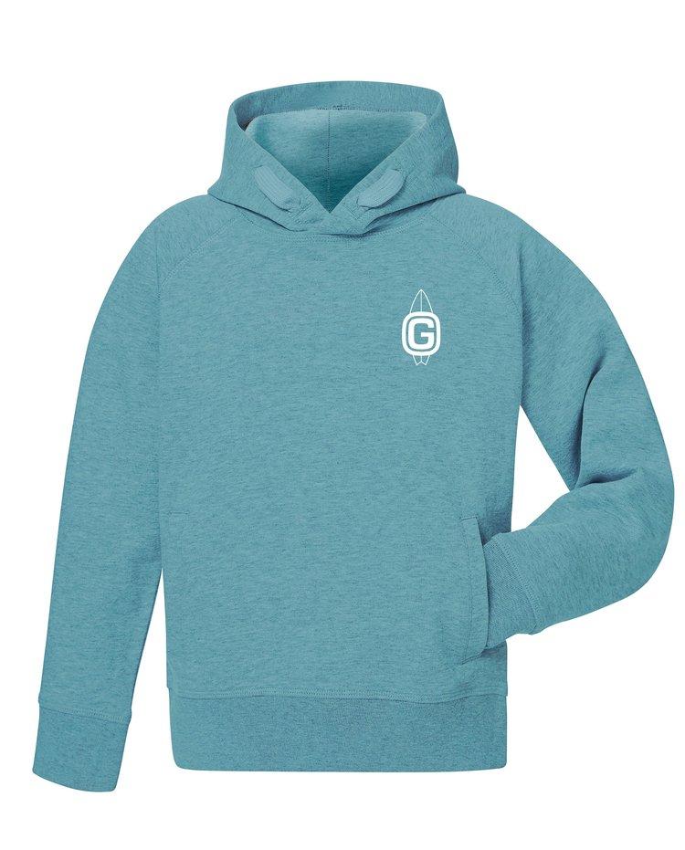 GSS Kids Hoodie £25 - 100% organic cotton teal hoodie