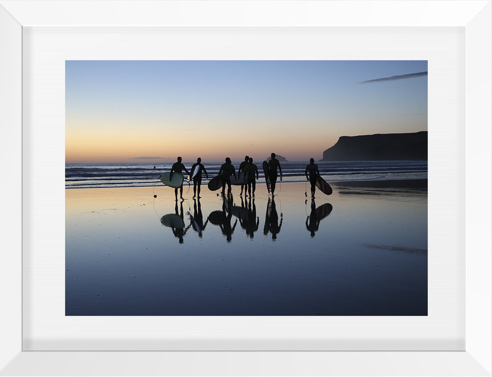 Surfers' Sunset Polzeath £150 - By Beth Druce - limited edition signed and numbered fine art print.