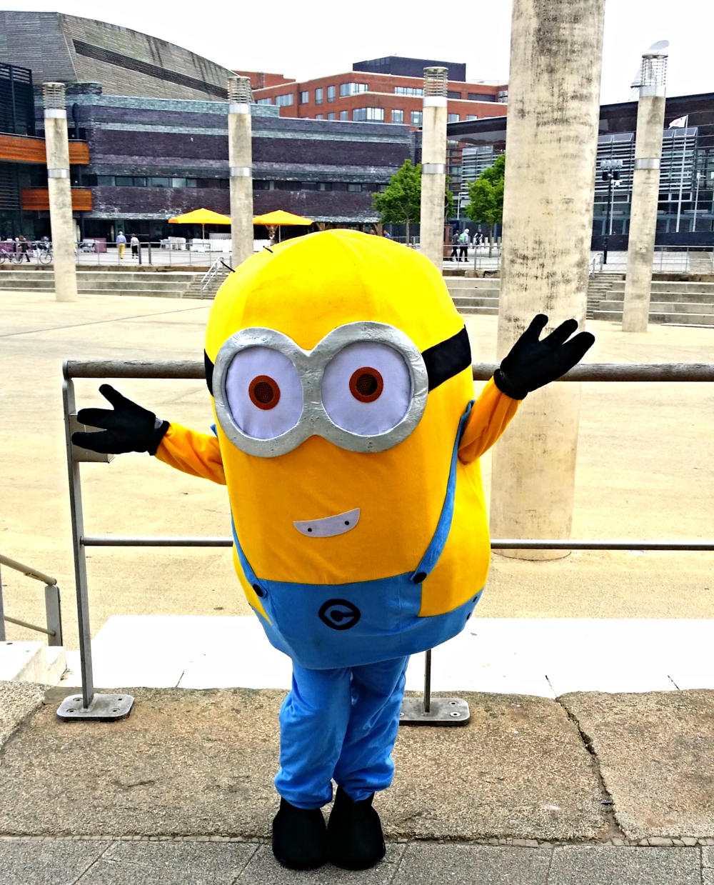 The Minions were unleashed around Cardiff Bay's Mermaid Quay!