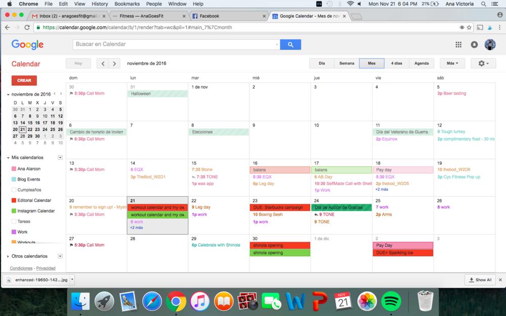 My own calendar!