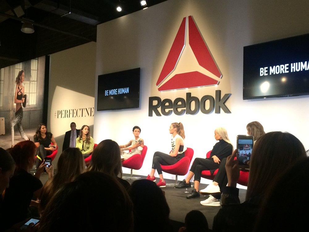 From left to right: Jessica Mendoza, Aly Raisman, Ruby Rose, Gigi Hadid, Zoe Kravitz & Lena Dunham.