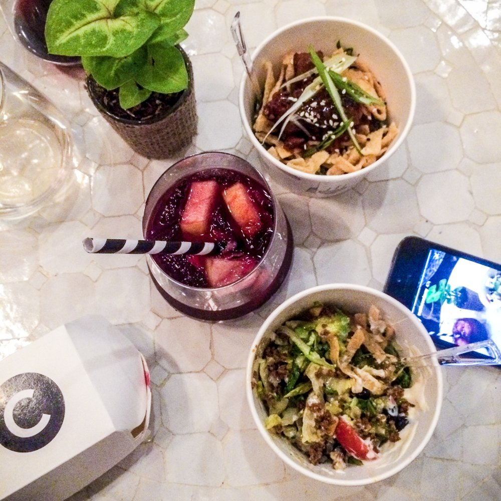 sangria for brunch, and quinoa bowls for lunches