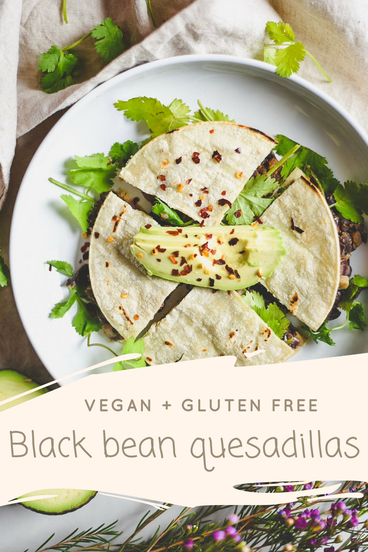 BLACK BEAN + SHIITAKE MUSHROOMS QUESADILLAS