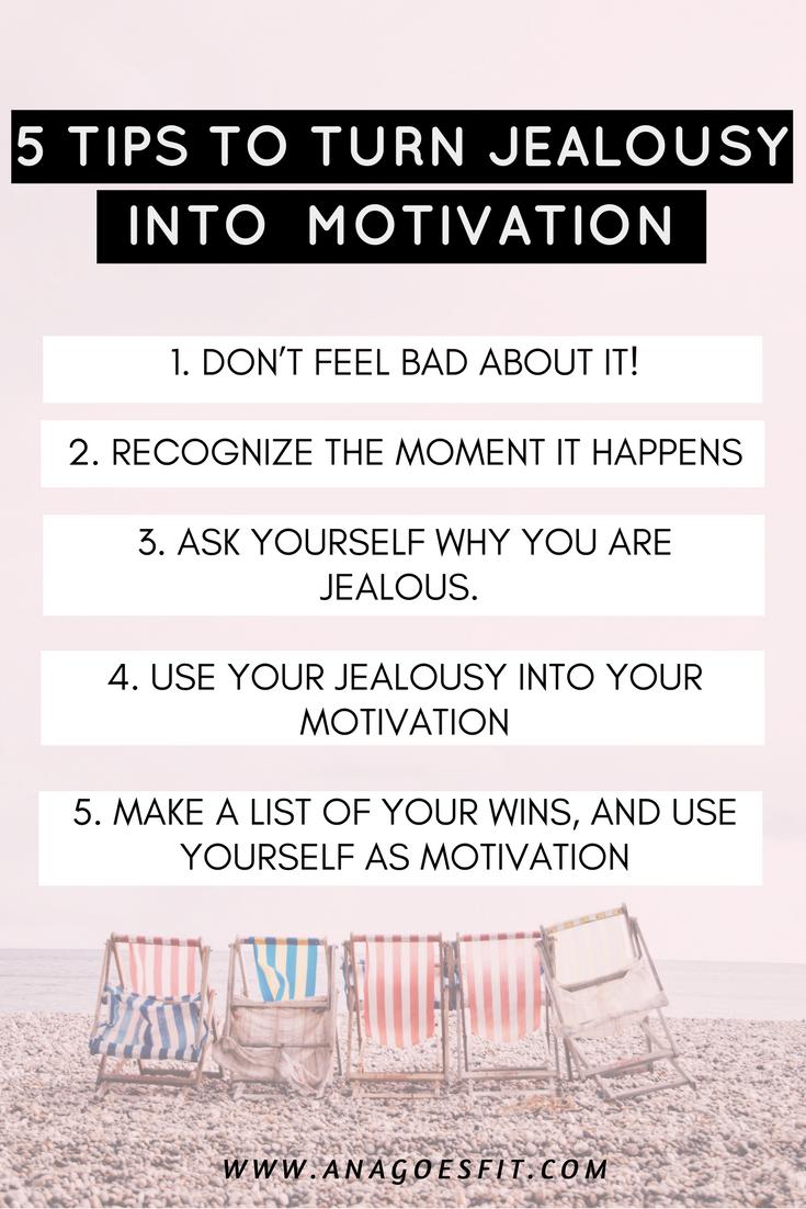 5 TIPS TO TURN JEALOUSY INTO  MOTIVATION