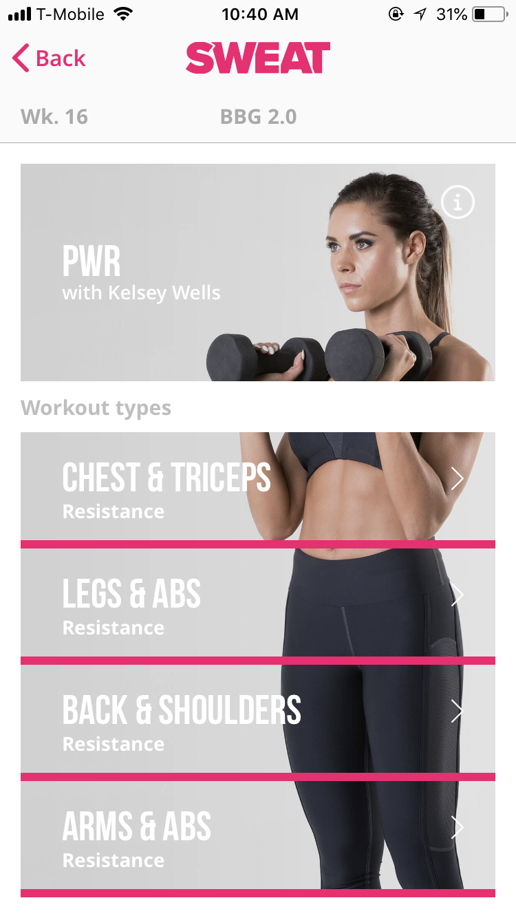 lo que pienso de la app SWEAT de Kayla Itsines