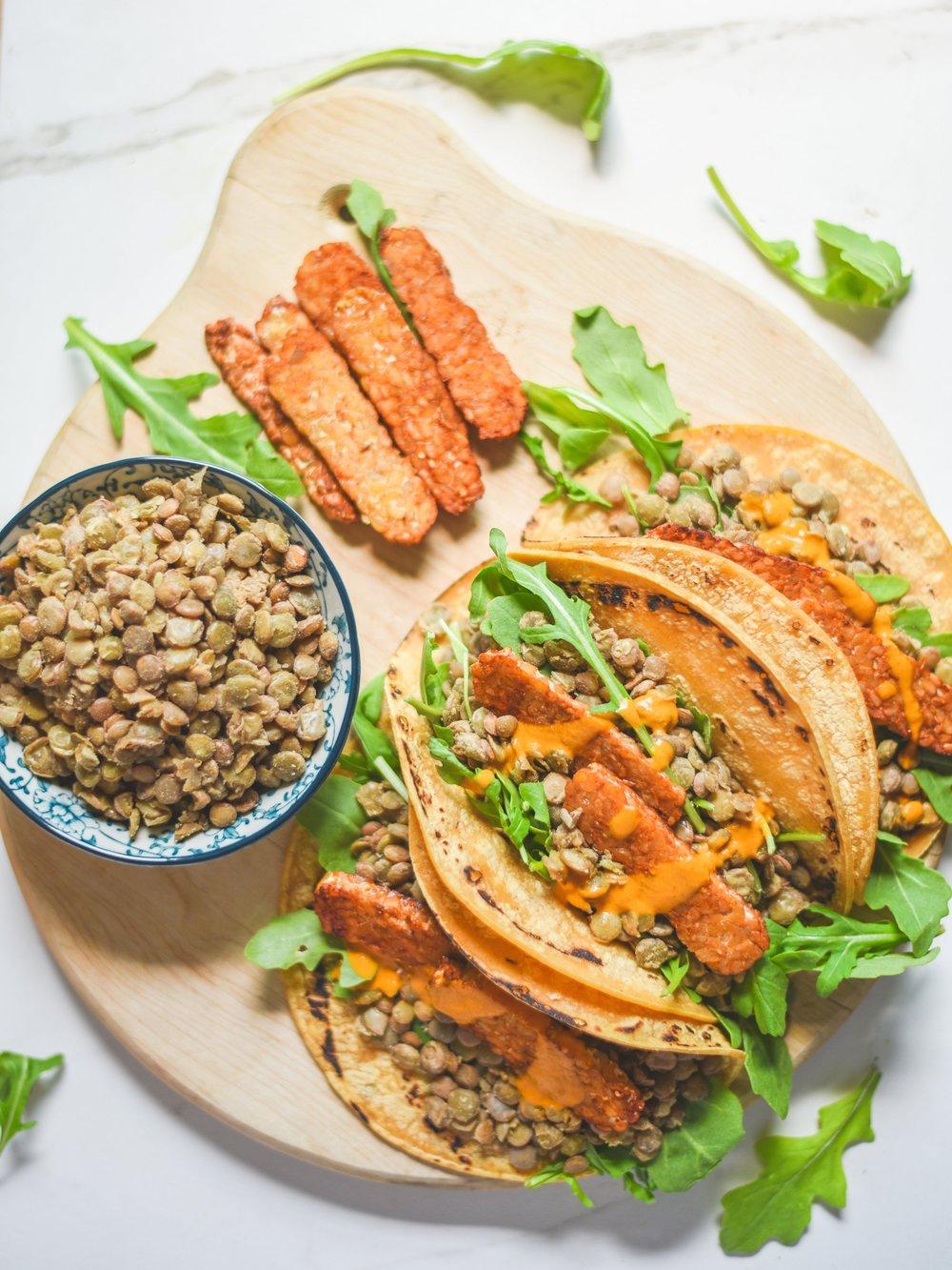 recetas saludables veganas y faciles de hacer tempeh tacos lentejas