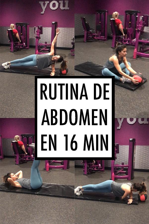 Rutina de abdomen en 16 minutos