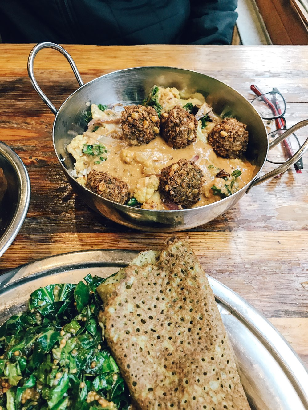 Black lentil kofta bowl