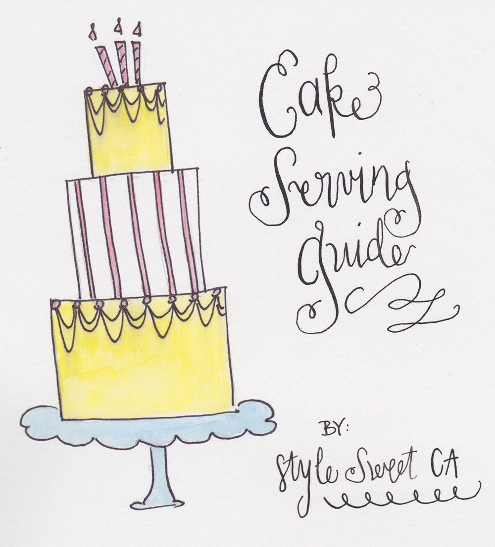 CakeServingGuide by Style Sweet CA