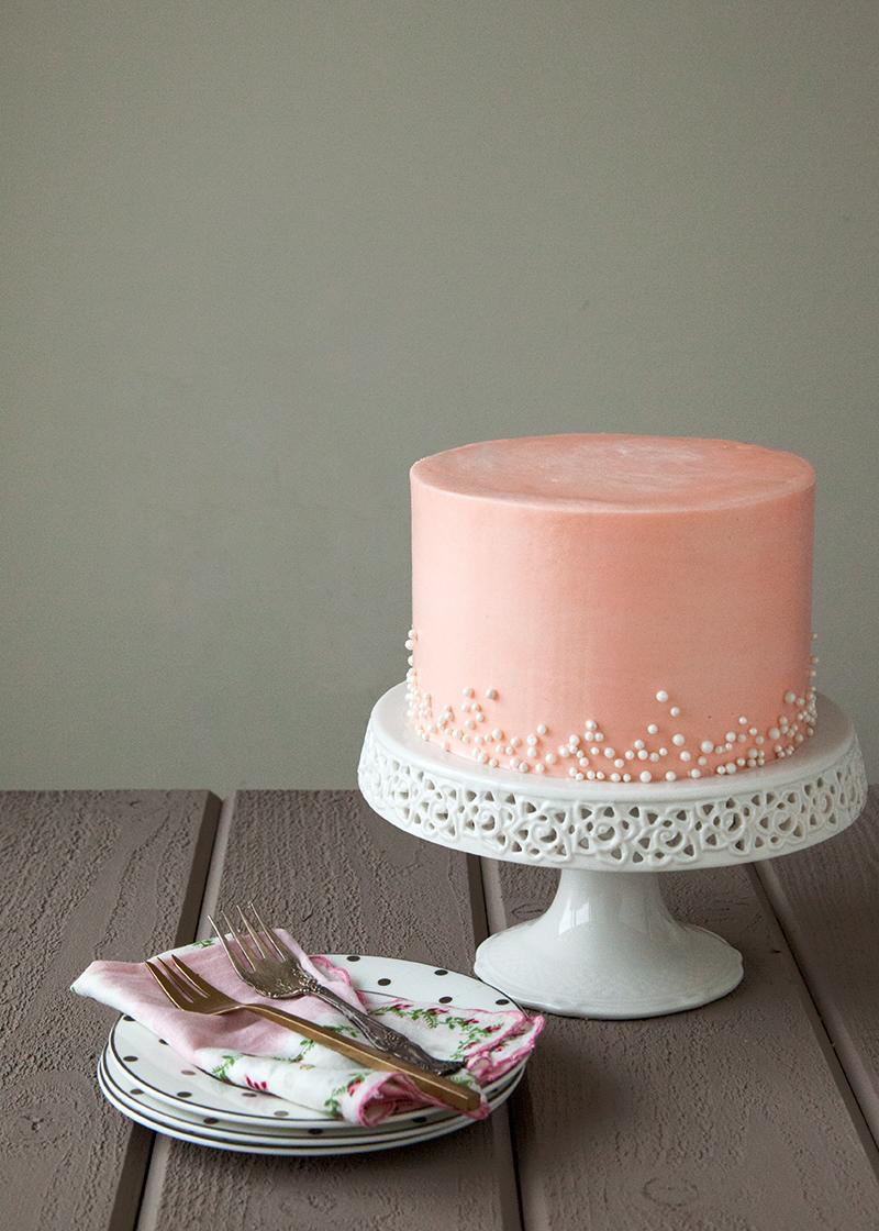 Pink Black And White Sweet  Cake