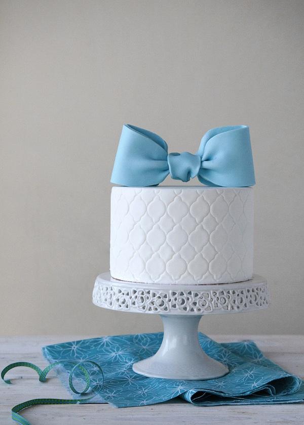 Blue Fondant Cake Design : DIY Fondant Bows   Style Sweet CA