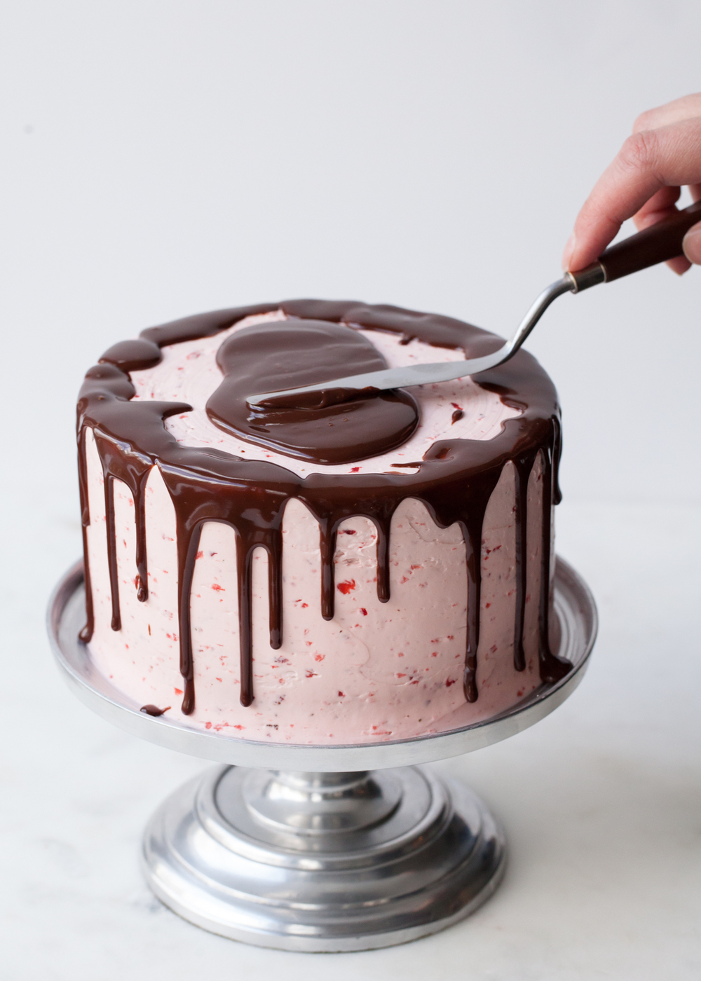 Chocolate-Dipped Strawberry Cake