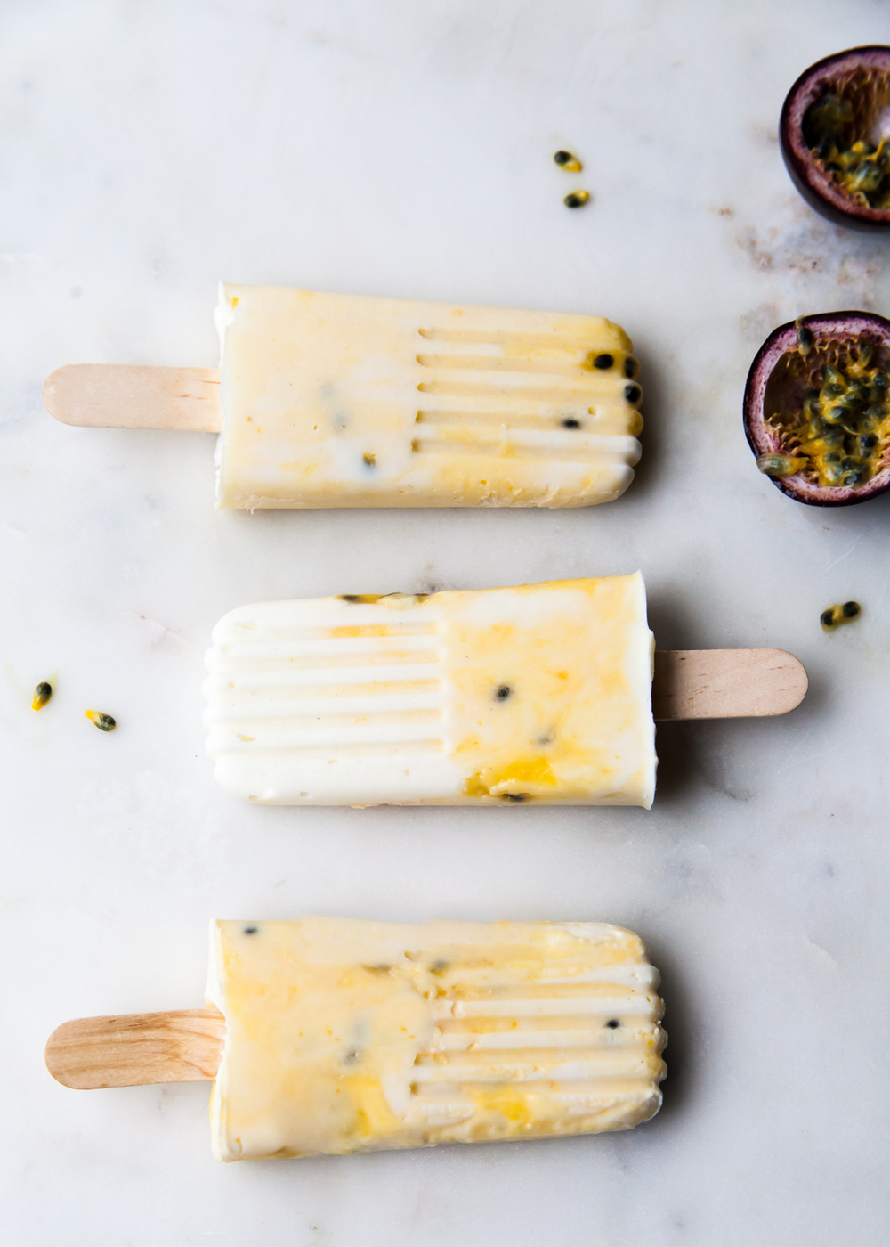 Passion Fruit Popsicles for popsicle week!