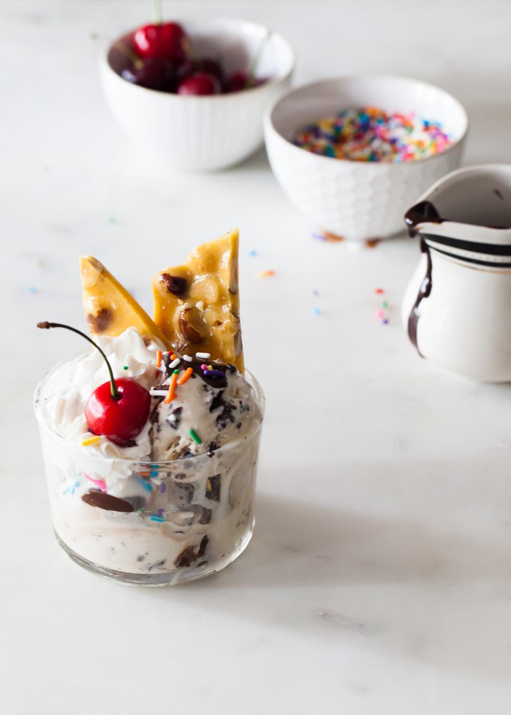 Stout Stracciatelly Ice Cream Sundae