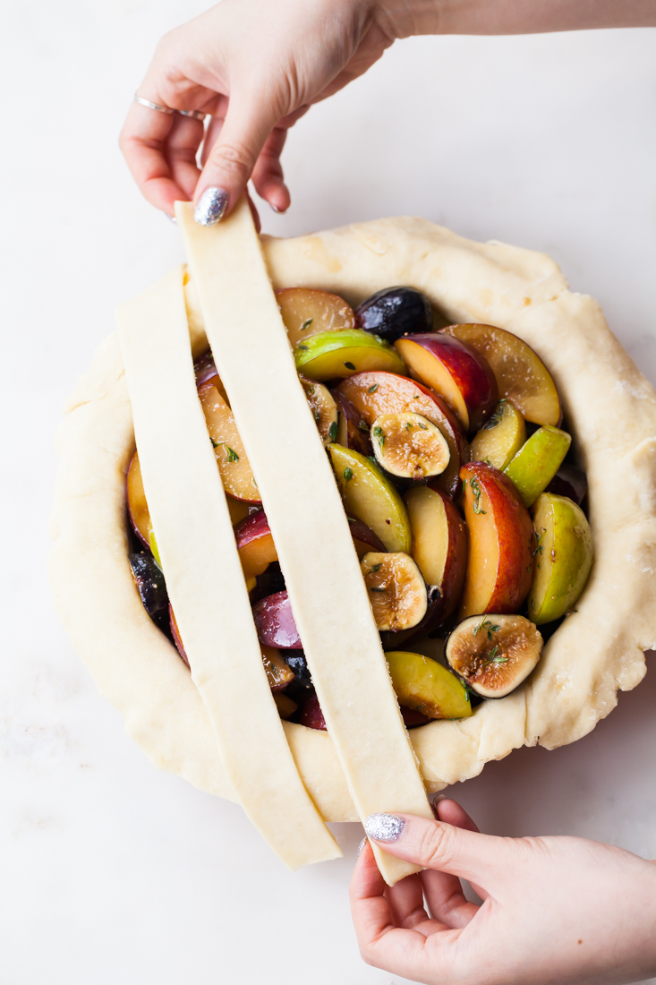 Fig Plum Pie with an all-butter crust.