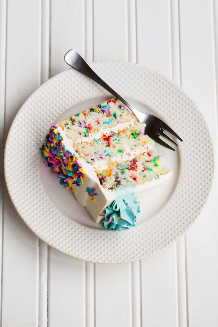 Funfetti Cake Recipe with sprinkles