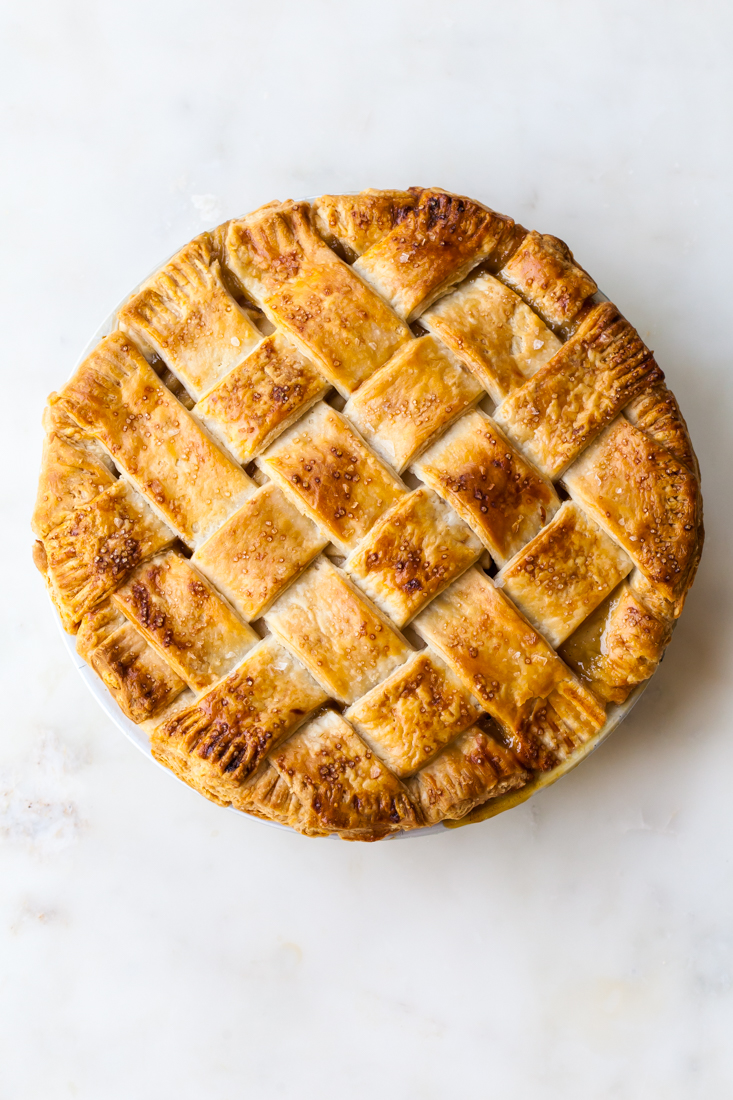 Butterscotch Vanilla Pear Pie