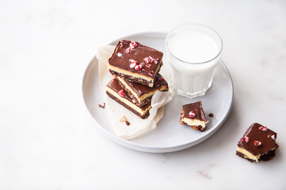 Peppermint Nanaimo Bars for FoodNetwork.ca