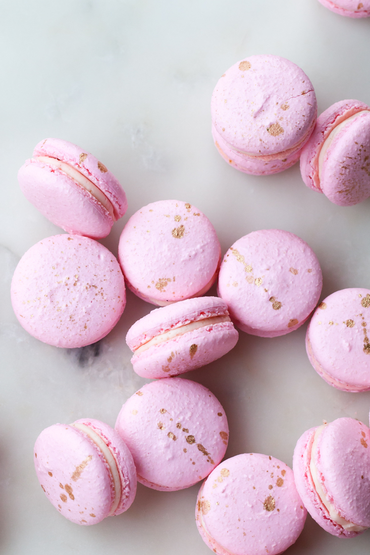 Pink Peppercorn and Ganache Valentine Macarons with Valrhona Chocolate