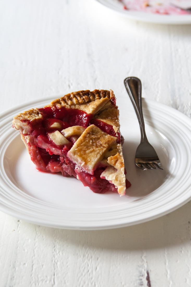 Rhubarb Berry Pie Recipe with an all-butter crust.