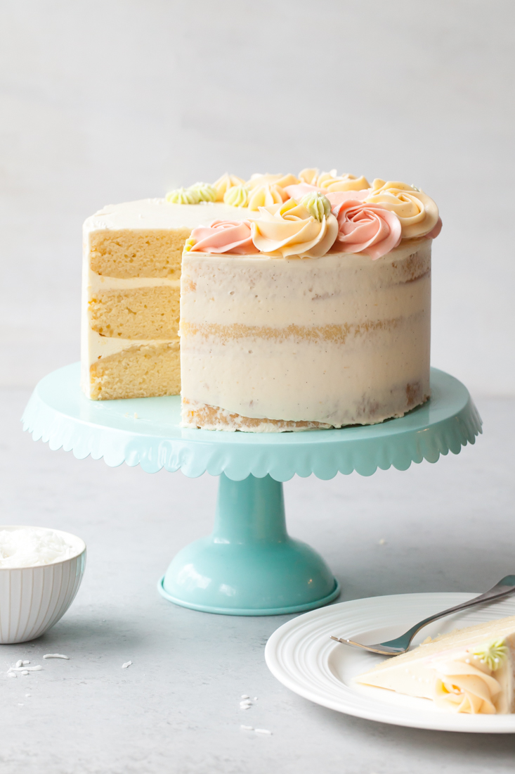 Coconut Vanilla Bean Layer Cake