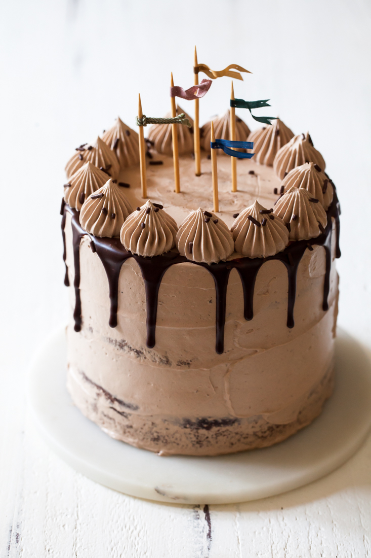 Triple Chocolate Cake With What Frosting