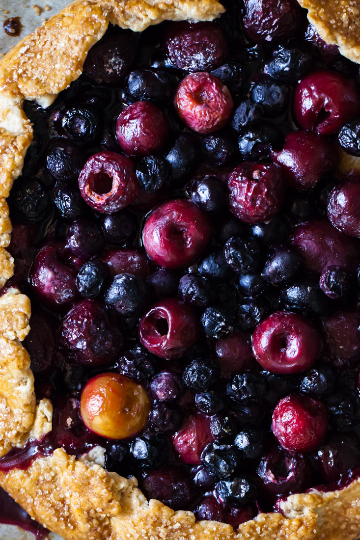 Cherry Blueberry Galette