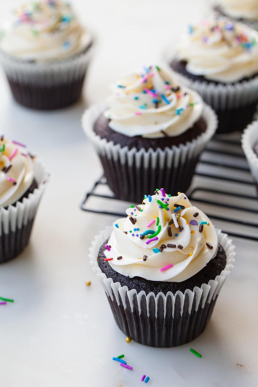 Boozy Birthday Cupcakes