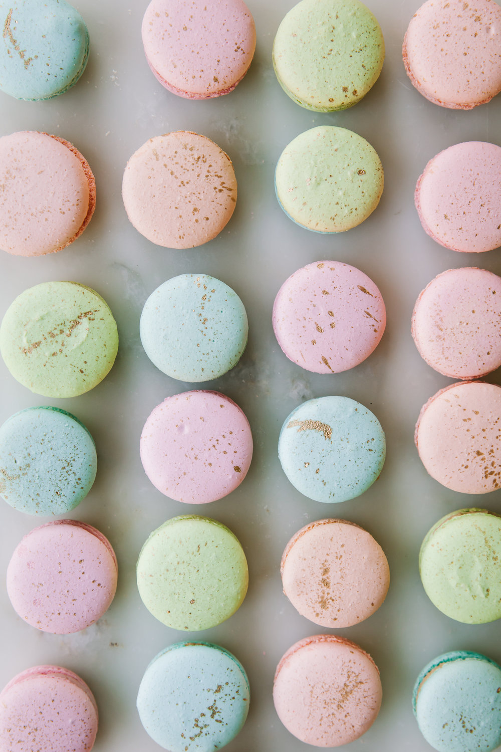 Gold Speckled Easter Egg Macarons