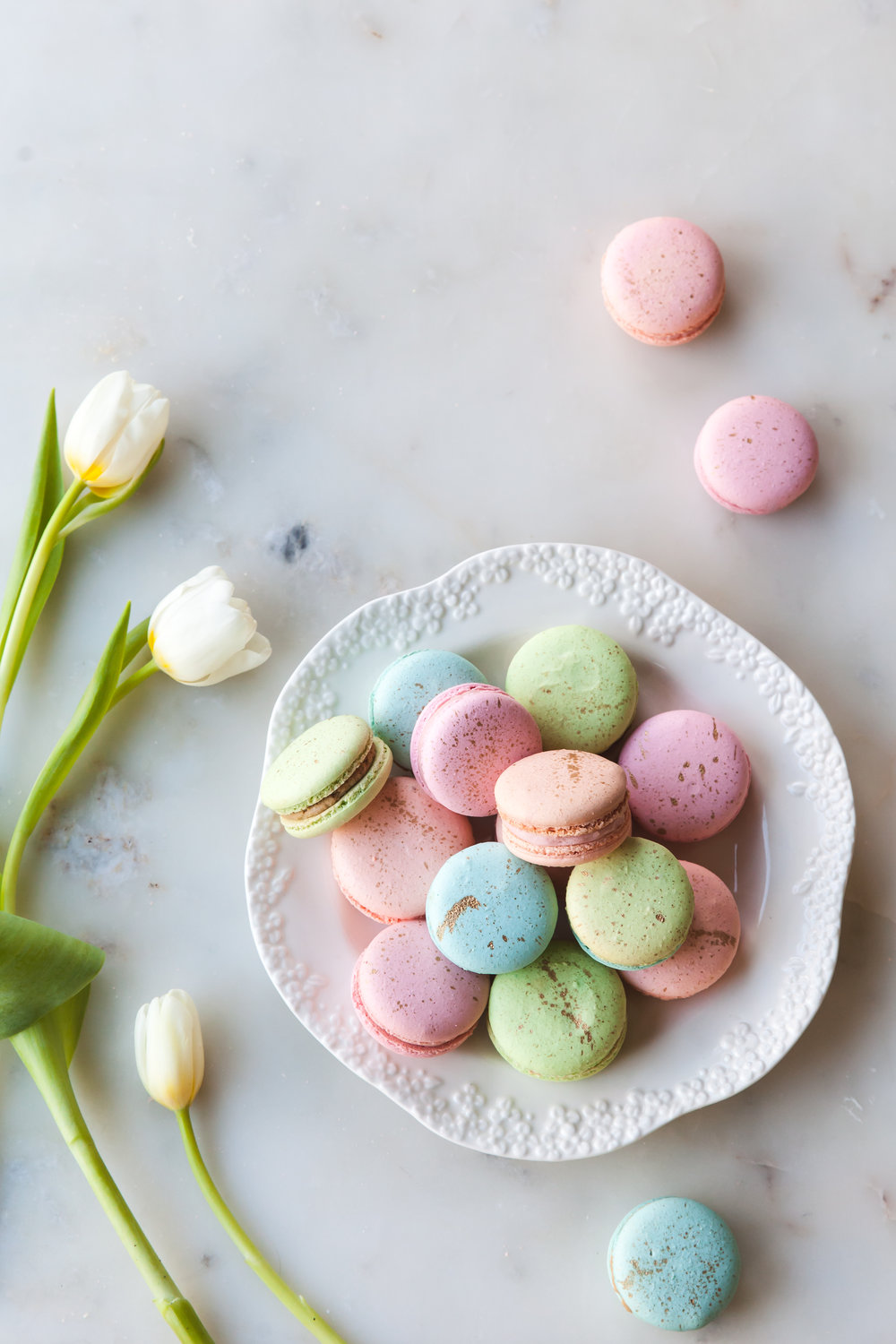 Pastel and Gold French Macarons — Style Sweet