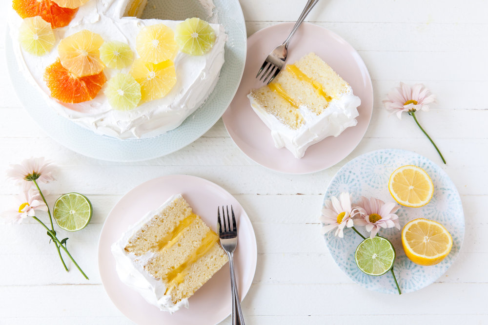Lemon Meringue Layer Cake