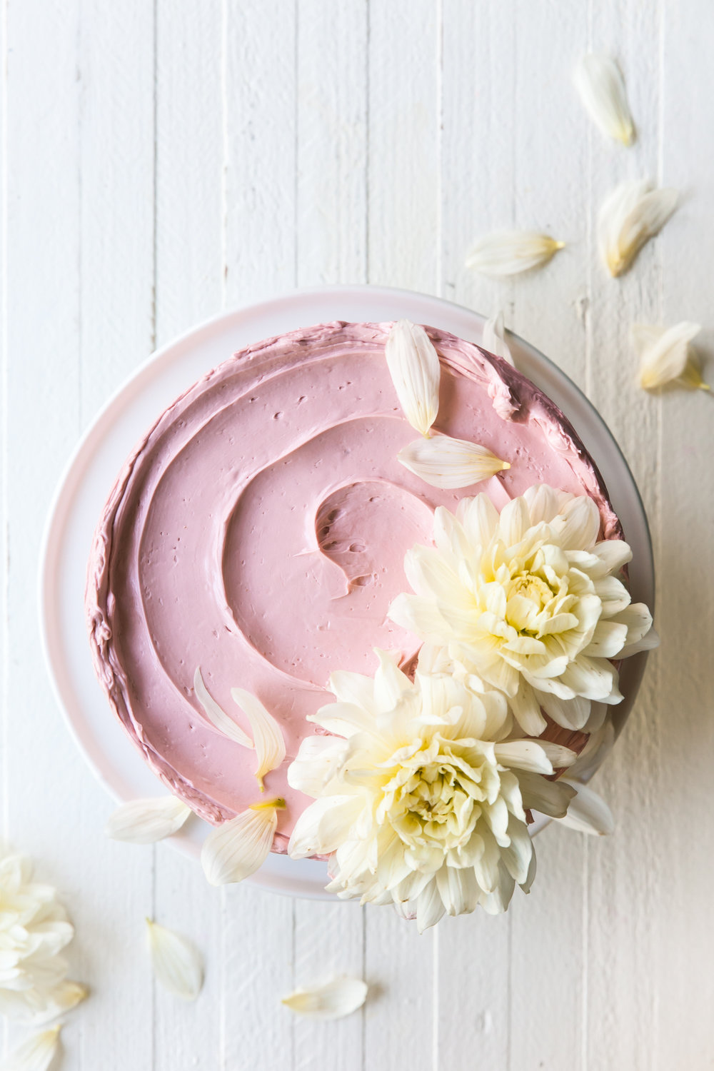 Lemon Poppy Seed Raspberry Layer Cake with French Buttercream