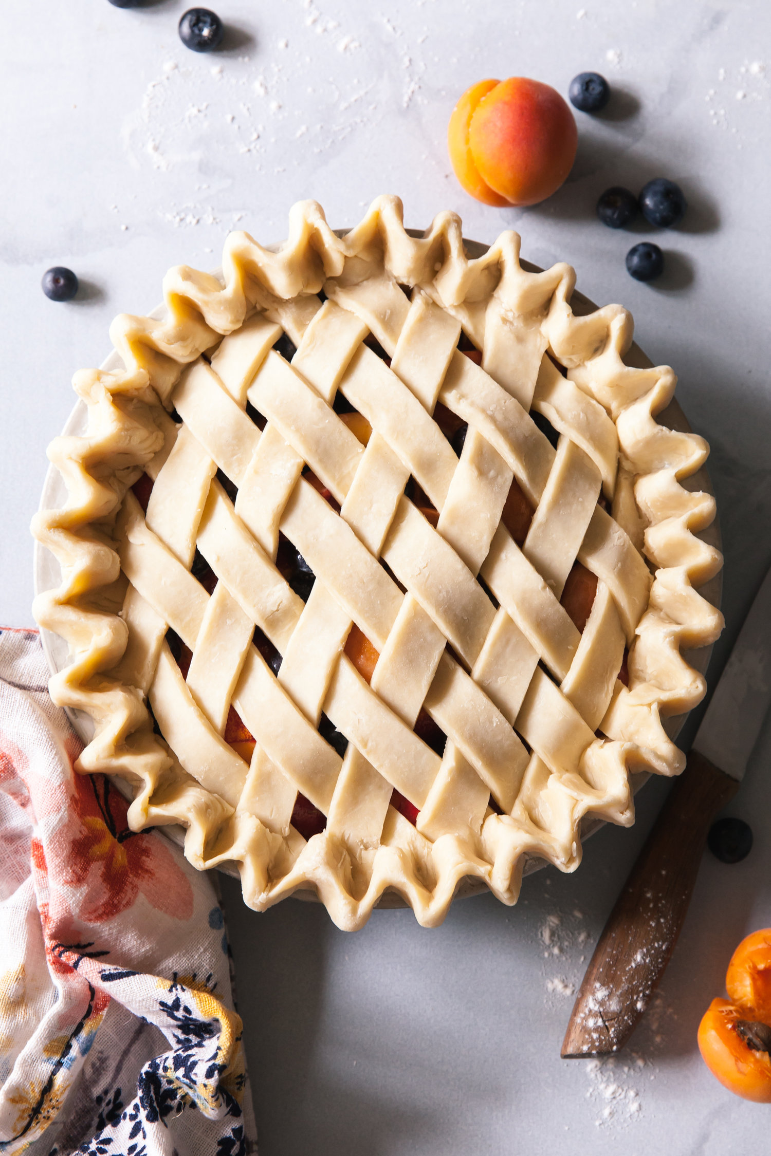 Blueberry Peach Pie With Apricots Style Sweet