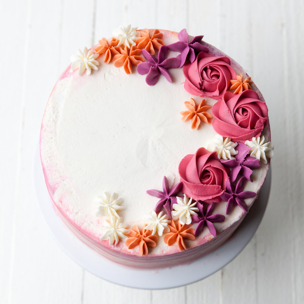 How To Make A Buttercream Flower Cake Style Sweet Ca