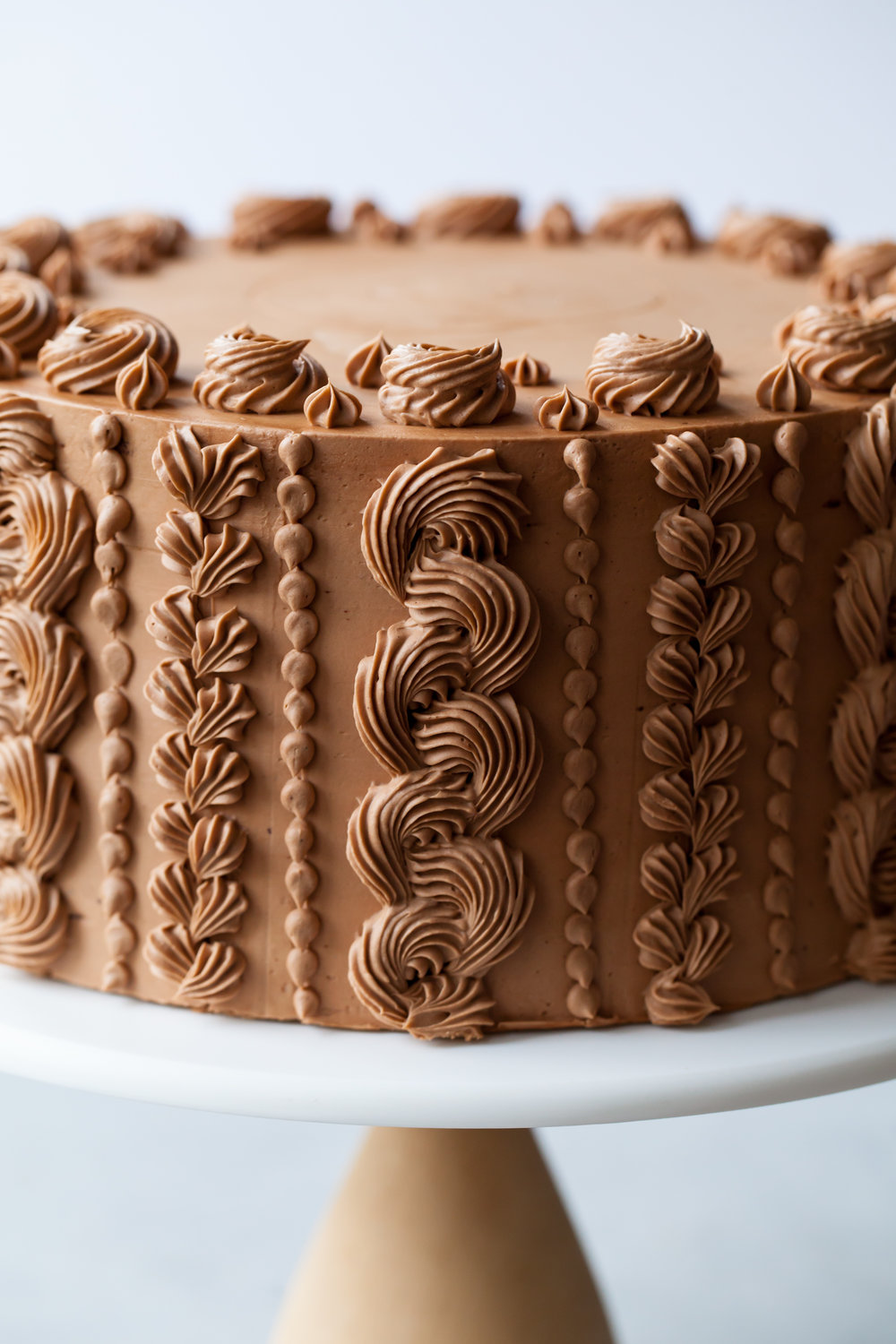 Spiced Chocolate Toffee Crunch Cake