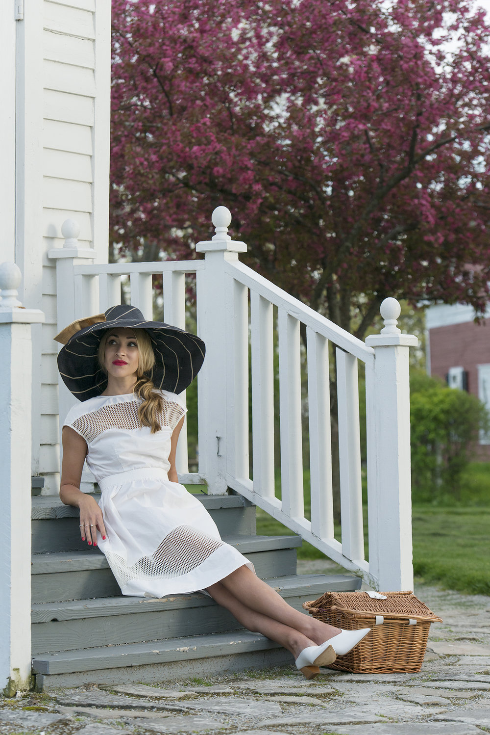 White dresses, picnics, and big hats... a few of my favorite things.