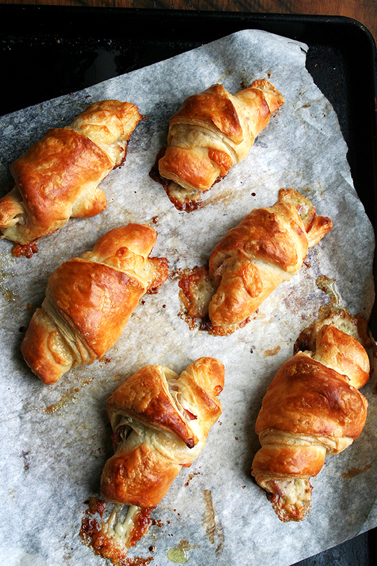 Prosciutto and Gruyere Croissants  - via Alexandra Cooks