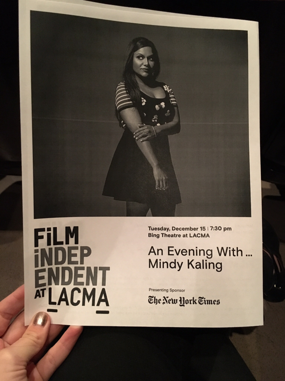 Mindy Kaling at LACMA