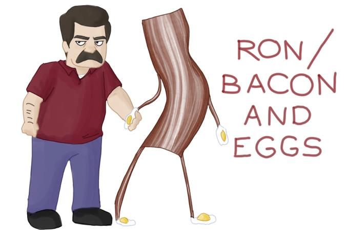 Ron Swanson and Bacon