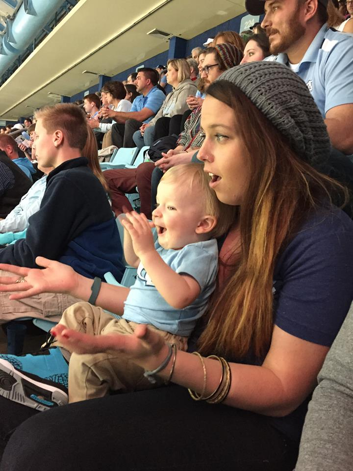 I was honored to be in attendance for one of sweet Owen's first UNC Basketball games!