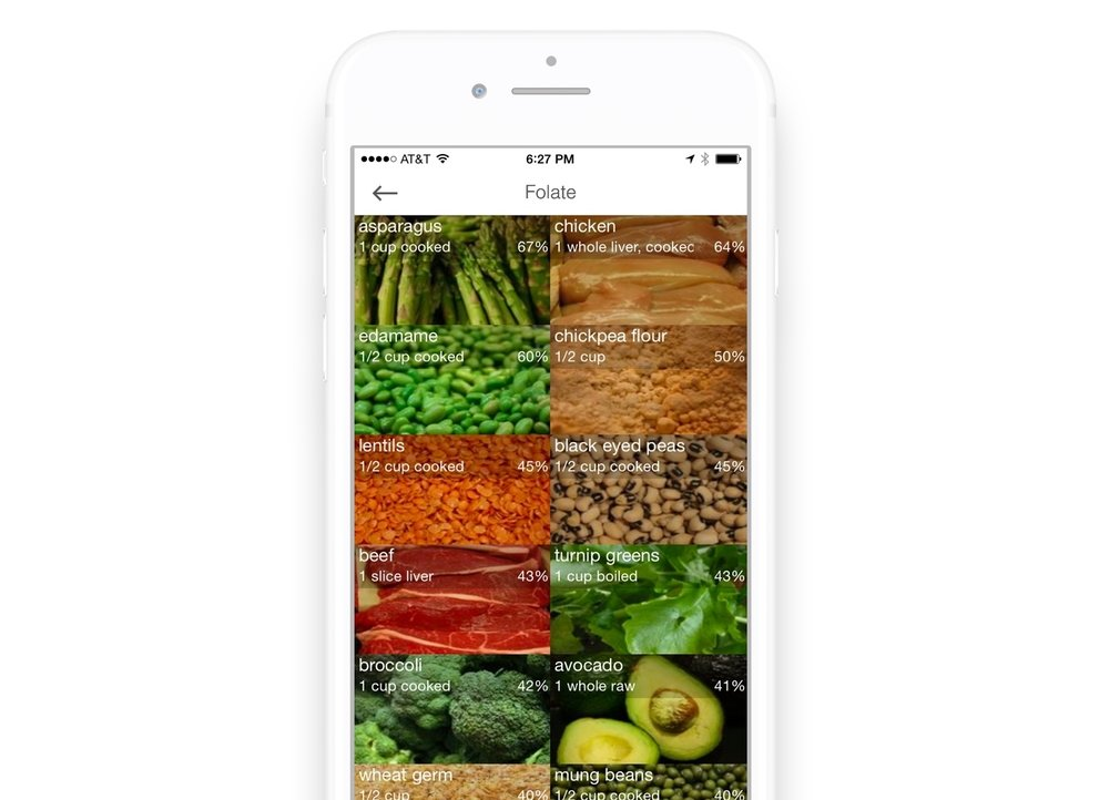 Folate rich foods Wholesome app