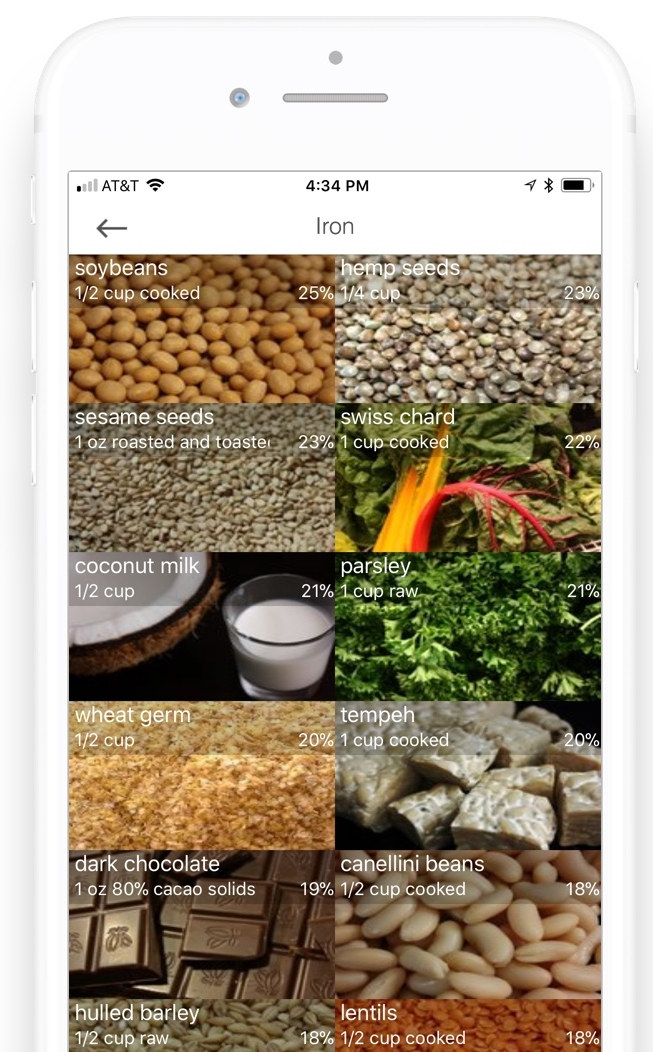 Foods rich in iron app