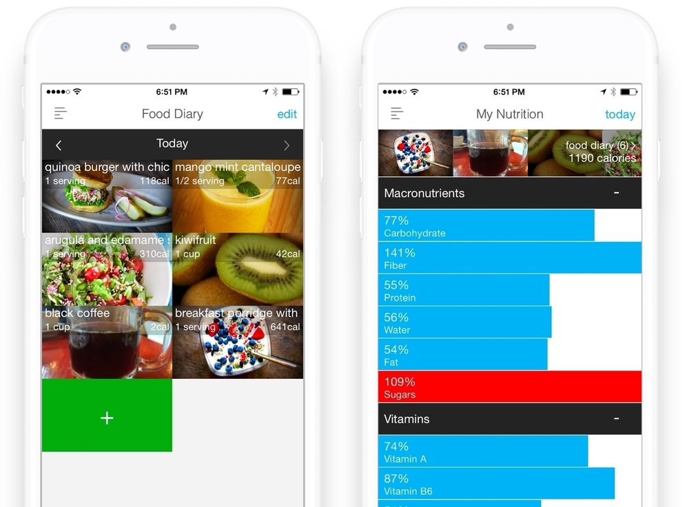 nutrition tracking food diary app