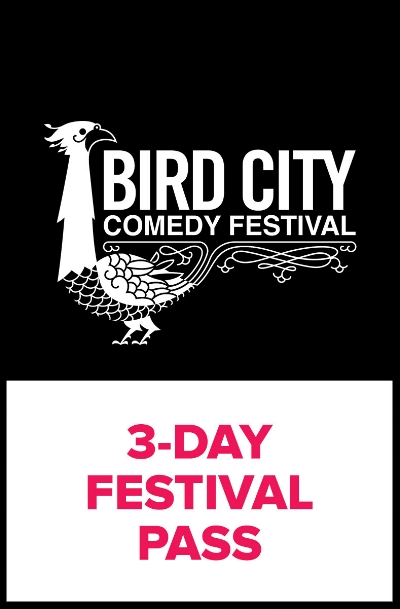 3-Day Festival Pass - The third annual Bird City Comedy Festival is back, and boy do we have a lot in store for you. Over three days, we have more than 40 comedy shows showcasing the finest in stand up, storytelling, improv, sketch & more all over downtown Phoenix. With a three-day pass, get access to all of these events for one low price:Stand up from IAN ABRAMSON (7 Minutes in Purgatory, Just for Laughs), MARCELLA ARGUELLO (@midnight, Last Call with Carson Daly), KYLE AYERS (Boast Rattle, First Comes Love), JOEL KIM BOOSTER (Comedy Knockout, The Meltdown with Jonah and Kumail), BRETT DAVIS (The Chris Gethard Show, Adult Swim), SAM JAY (Saturday Night Live, Late Night with Jimmy Kimmel), JACKIE KASHIAN (Conan, Comedy Central Presents), MAGGIE MAYE (Conan, Gotham Comedy Live), AMY MILLER (Last Comic Standing), BRANDIE POSEY (Comedy Central, Lady to Lady), SHANE TORRES (Comedy Bang Bang, Just for Laughs), DAVE WAITE (Late Night with Jimmy Fallon, Not Safe with Nikki Glaser) and many more from all over North America.Fun, fast-paced shows including LATE LATE BREAKFAST, BOAST RATTLE: A Compliment Contest, THE SPECIAL WITHOUT BRETT DAVIS, and DORK FOREST.Improv, sketch & storytelling events galoreFor just $15 more, you can upgrade to a VIP pass, which offers all the same great benefits of a three-day pass but offers priority seating and a complimentary Bird City t-shirt of your choice.