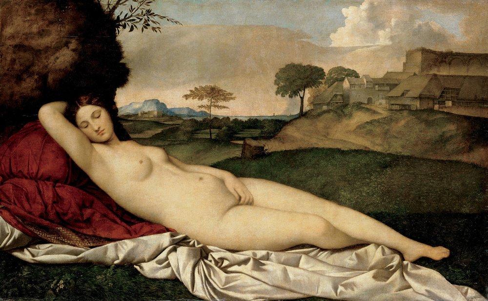 Giorgione ,  Sleeping Venus  , c. 1510.